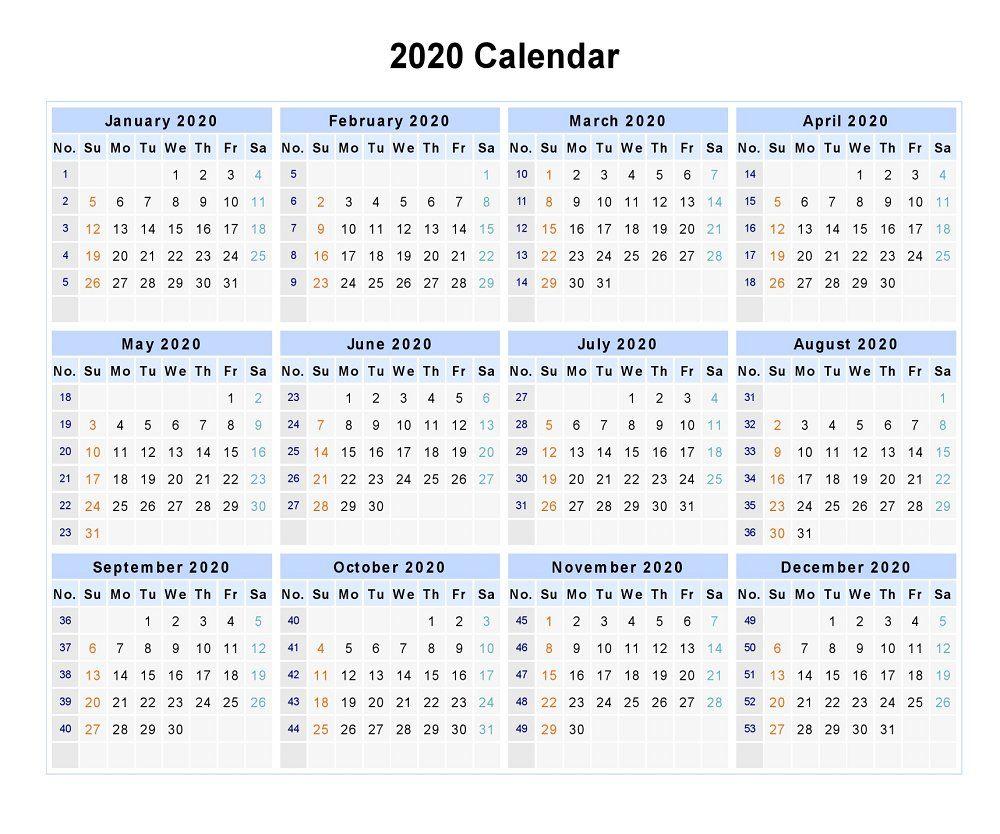 Blank 2020 12 Months Calendar | 12 Month Calendar, Monthly