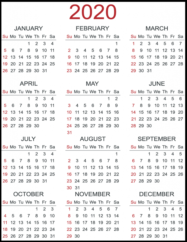 Blank Calendar 2020 Template | Best Printable Calendar