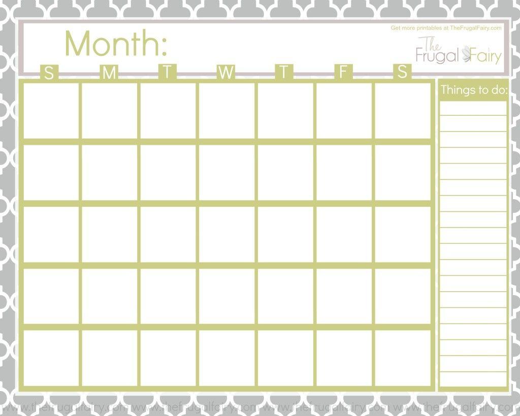 Blank Calendar Tff | Printable Blank Calendar, Blank