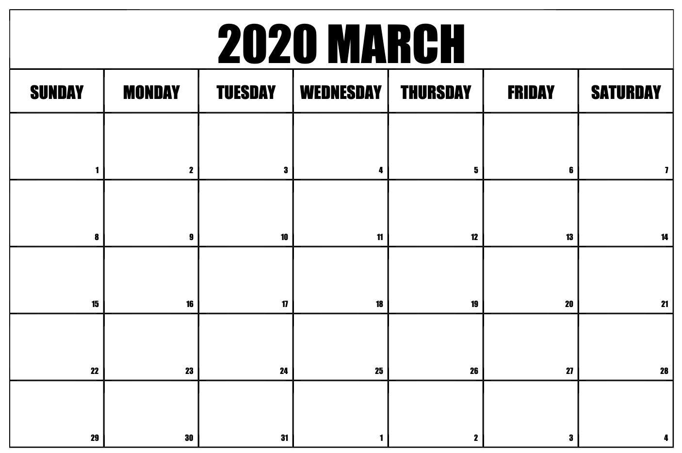 Blank March 2020 Calendar | November Calendar, Monthly