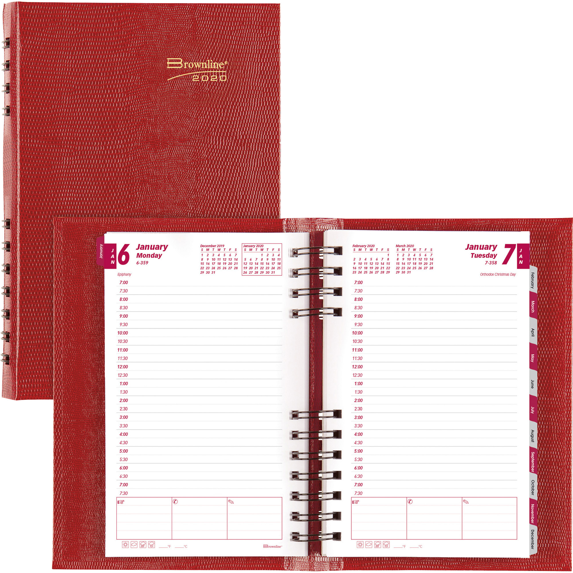 Blueline Brownline Coilpro Daily Appointment Planner - Daily