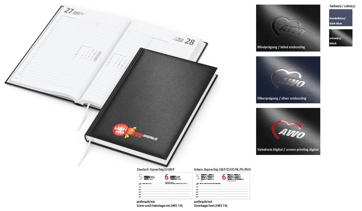 Book Calendar 2020 Image Balacron | Appointment Book With Logo Printed |  Deprismedia