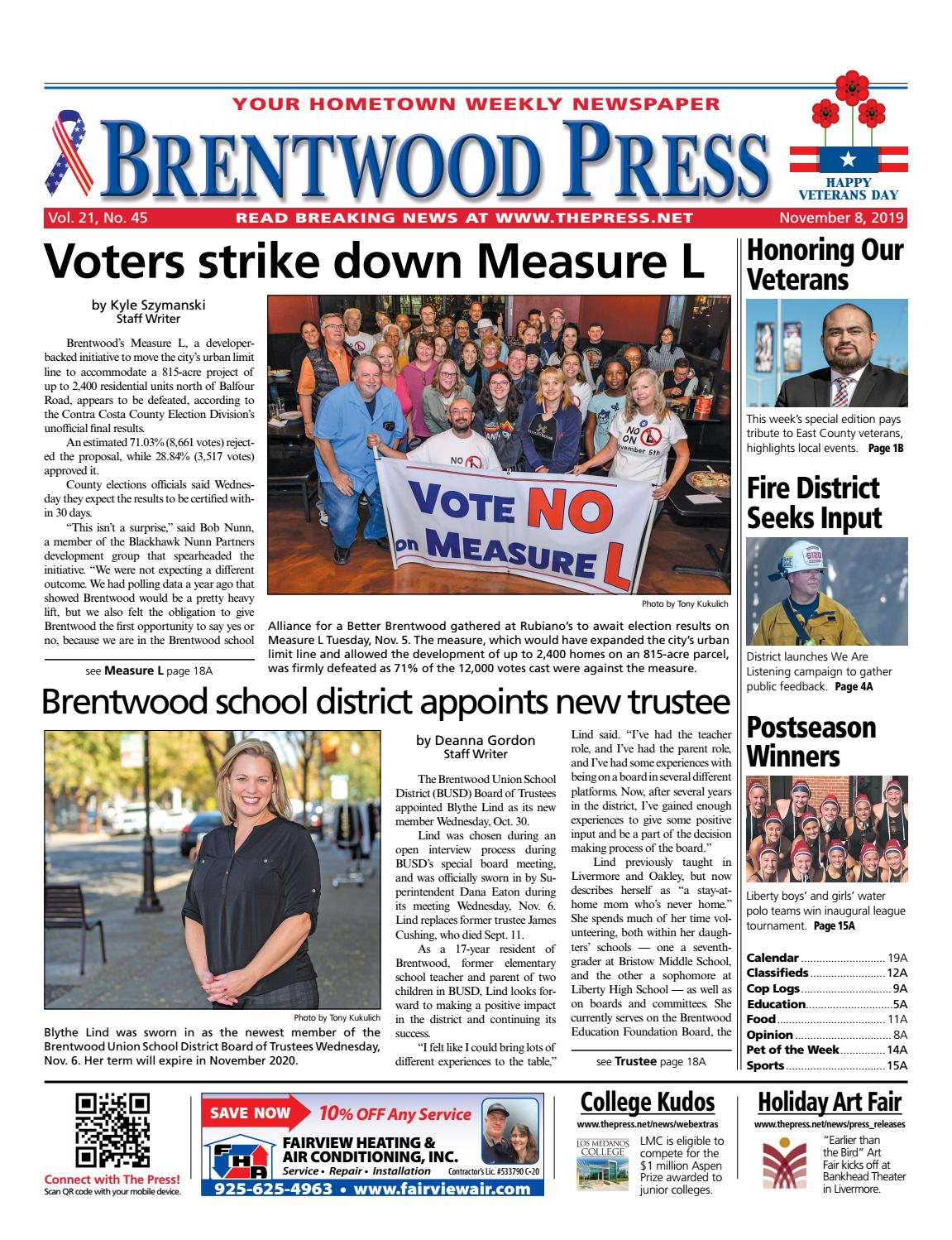 Brentwood Press 11.08.19 By Brentwood Press & Publishing - Issuu