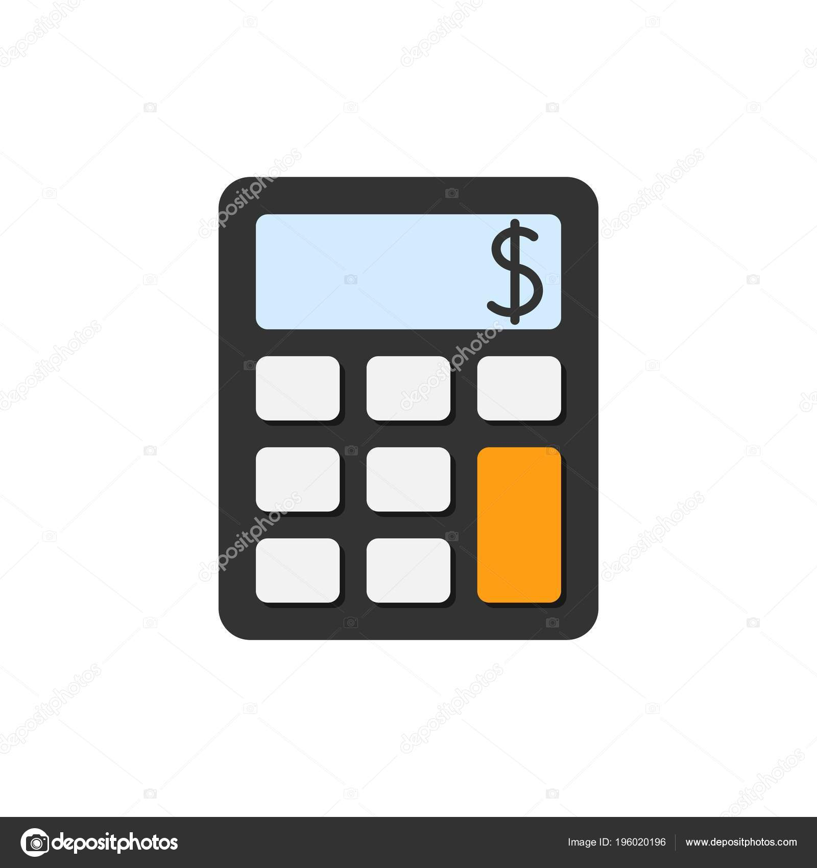 Calculator Flat Icon — Stock Vector © Pixelalex #196020196