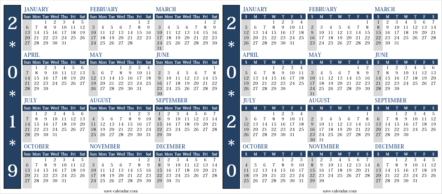 Calendar 2019 2020 Uk | Free Calendar, Templates Printable