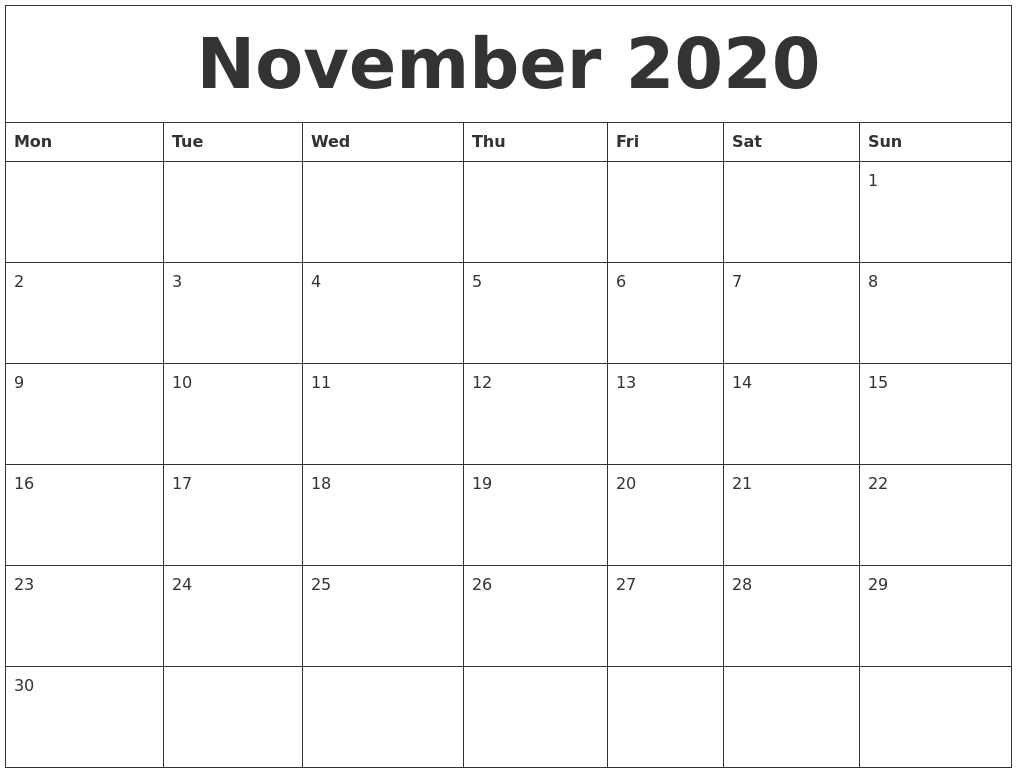 Calendar 2020 Word Template - Togo.wpart.co