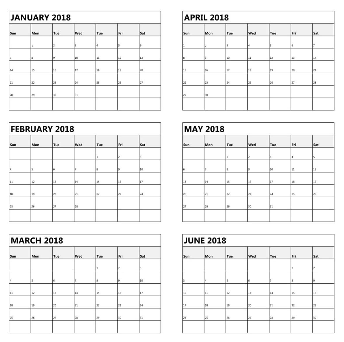 Calendar 6 Month - Togo.wpart.co