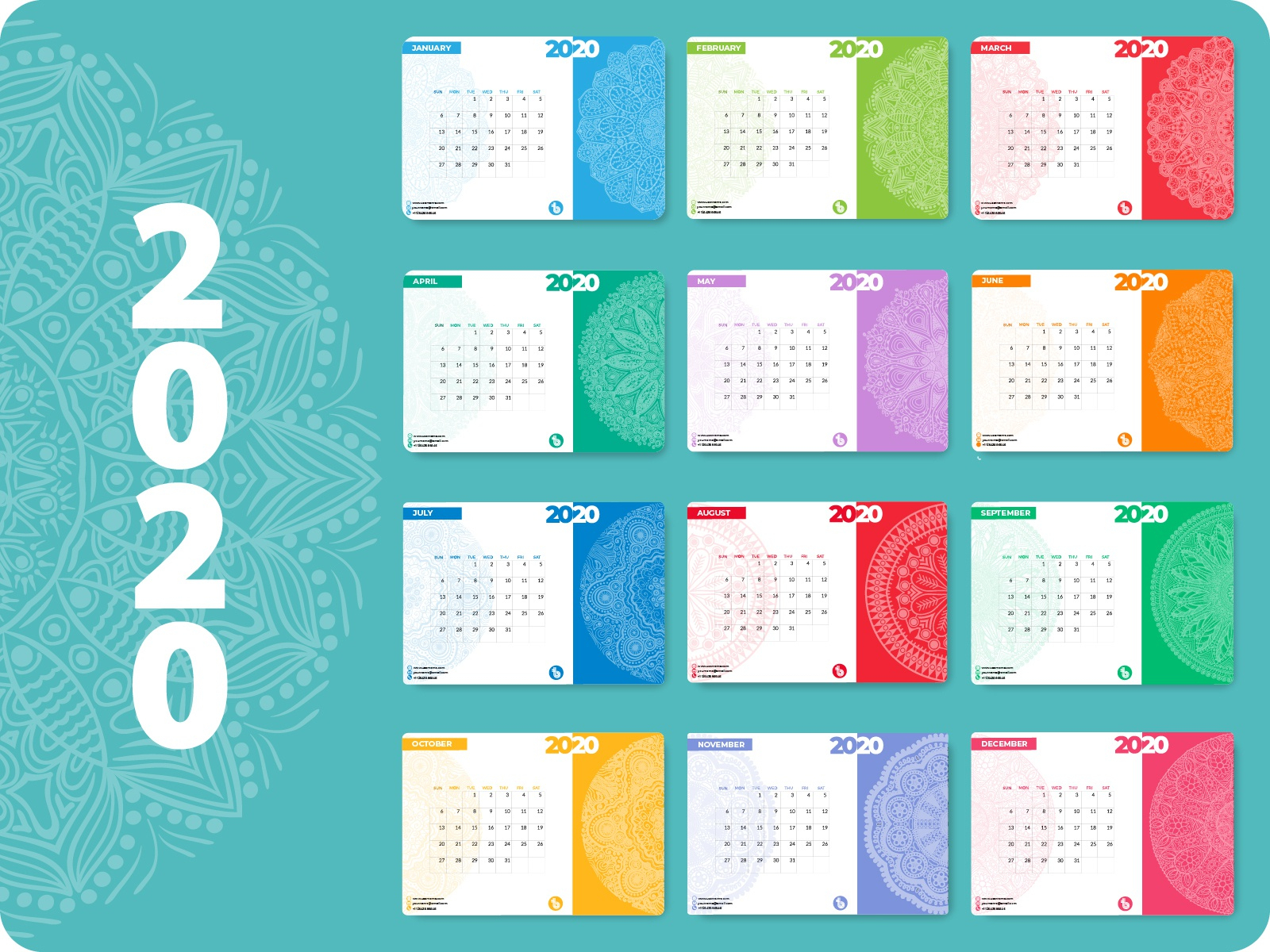 Calendar Design 2020 By Persfire On Dribbble