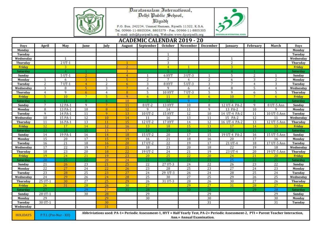 Calendar – Dps Riyadh