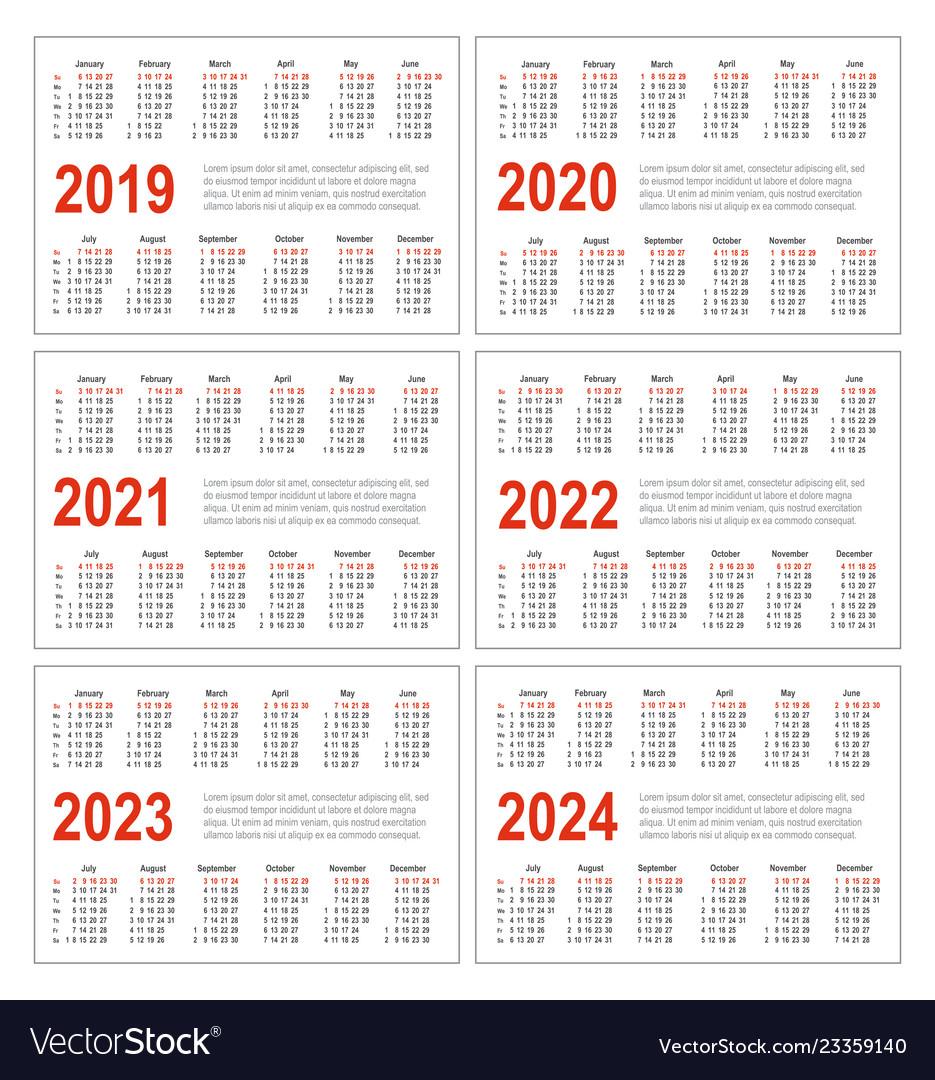 Collect Three Year Calendar 2020 2021 2022 | Calendar ...
