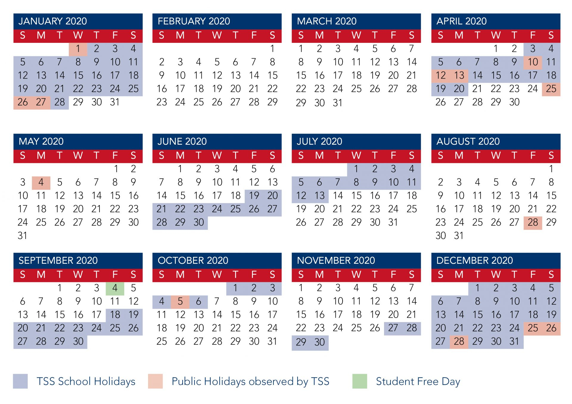 Calendar   The Southport School