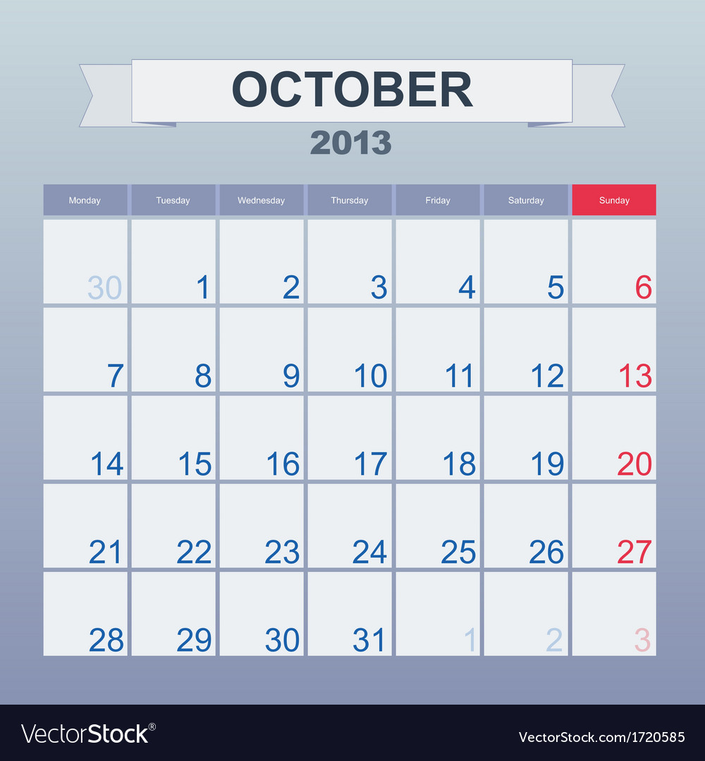 Calendar To Schedule Monthly October 2013