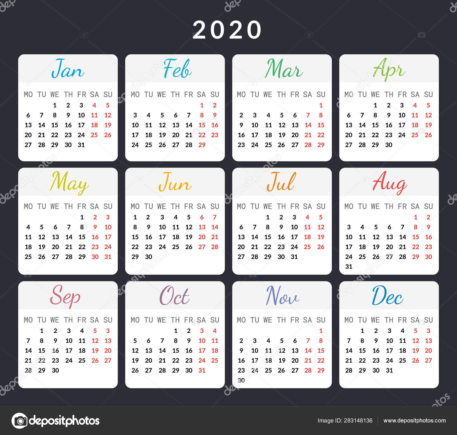 Calendar With Special Days 2020 | Calendar Template