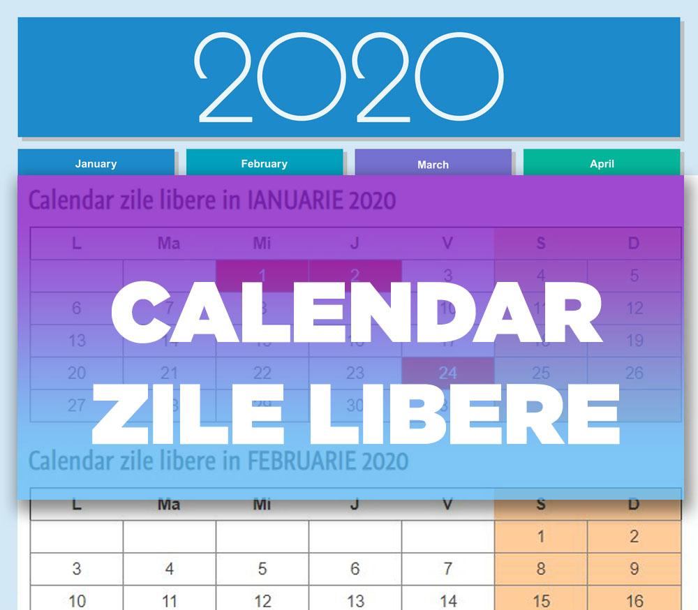 Calendar Zile Libere 2020 | Dragoş Şerban