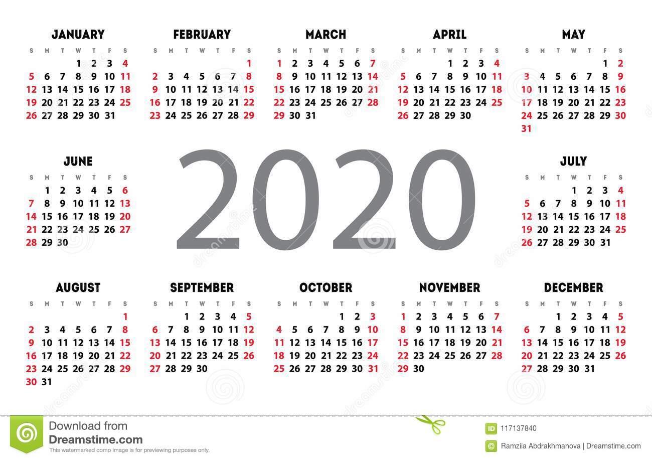Calendario 2020 Espanol - Togo.wpart.co