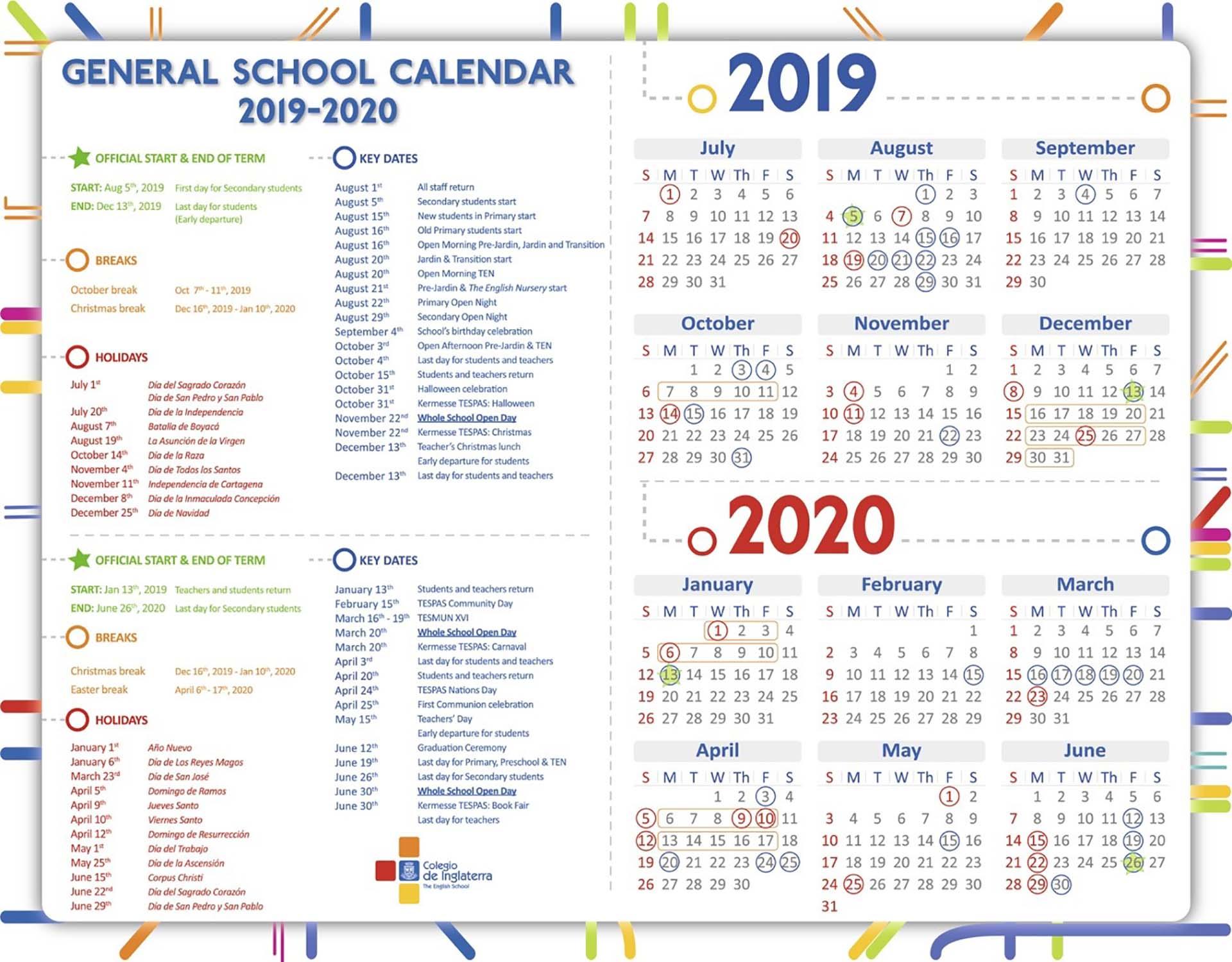 Calendario Colombia 2020 - Togo.wpart.co