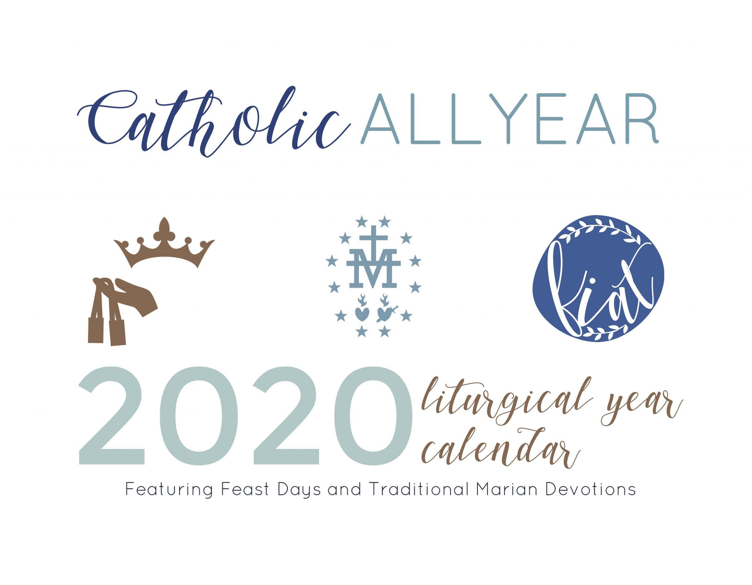 Catholic All Year 2020 Marian Liturgical Year Calendar *digital Download*
