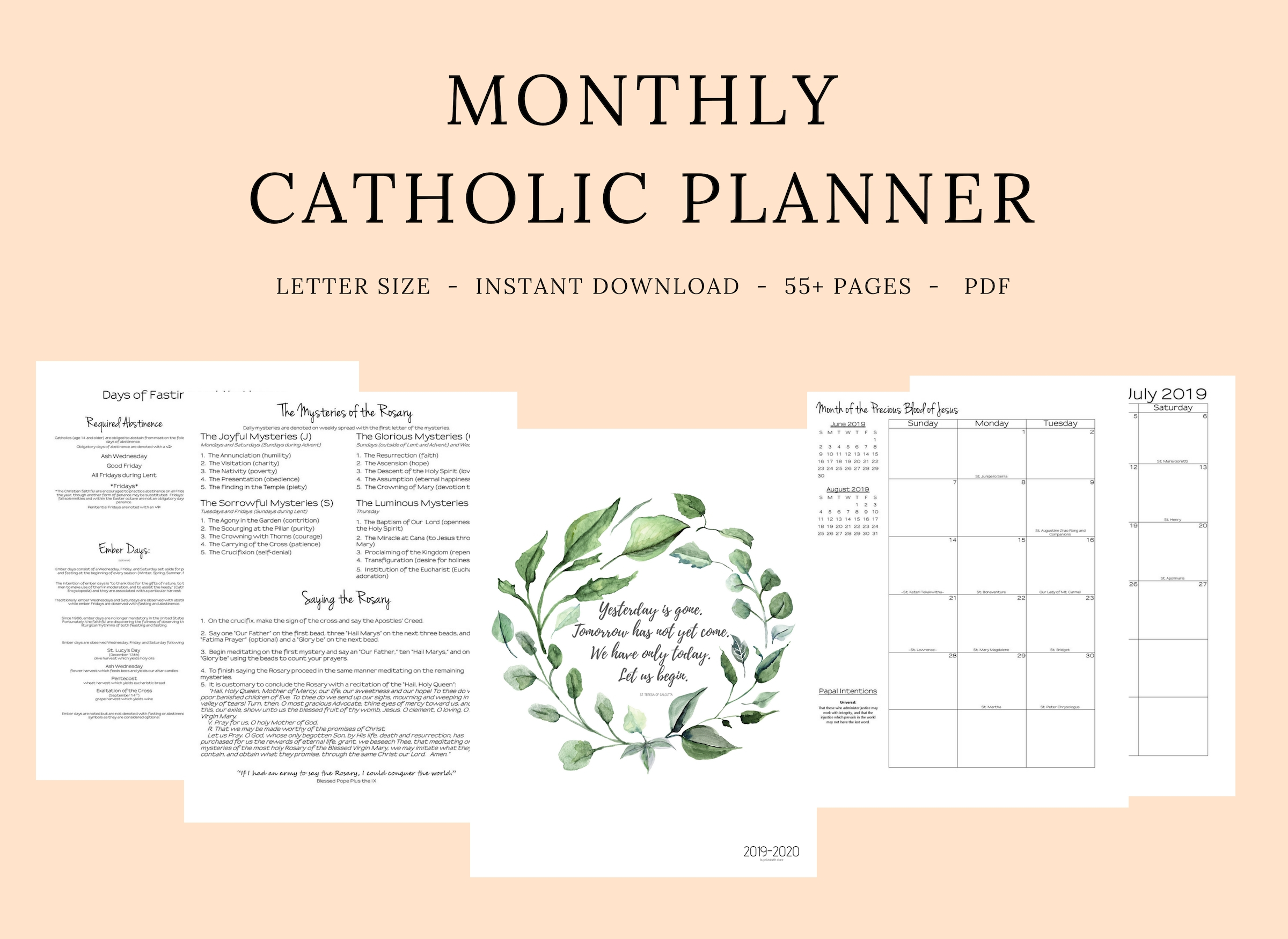 Catholic Liturgical Calendar 2020 Pdf - Calendar Inspiration