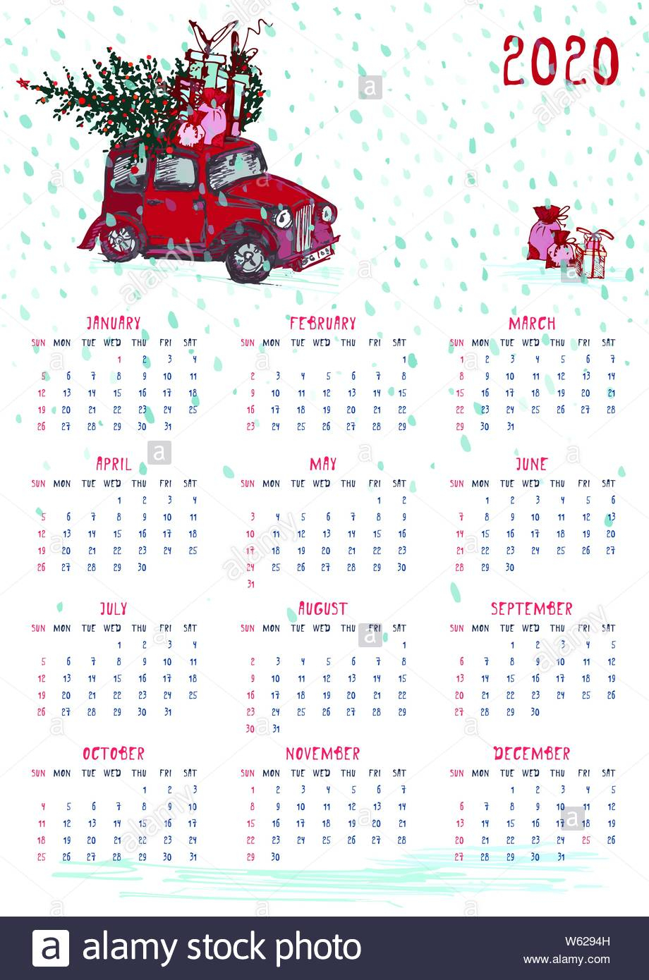 Christmas Theme Calendars