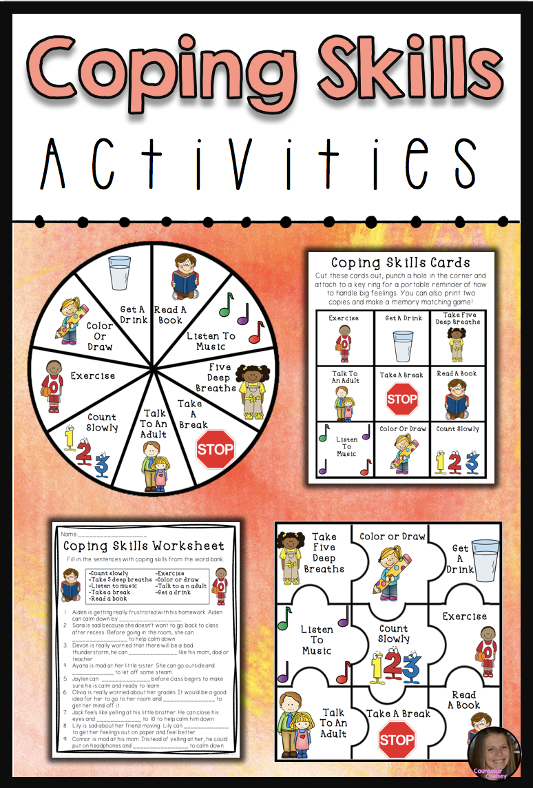 Coping Skills Activities | Counseling Ideas | Coping Skills