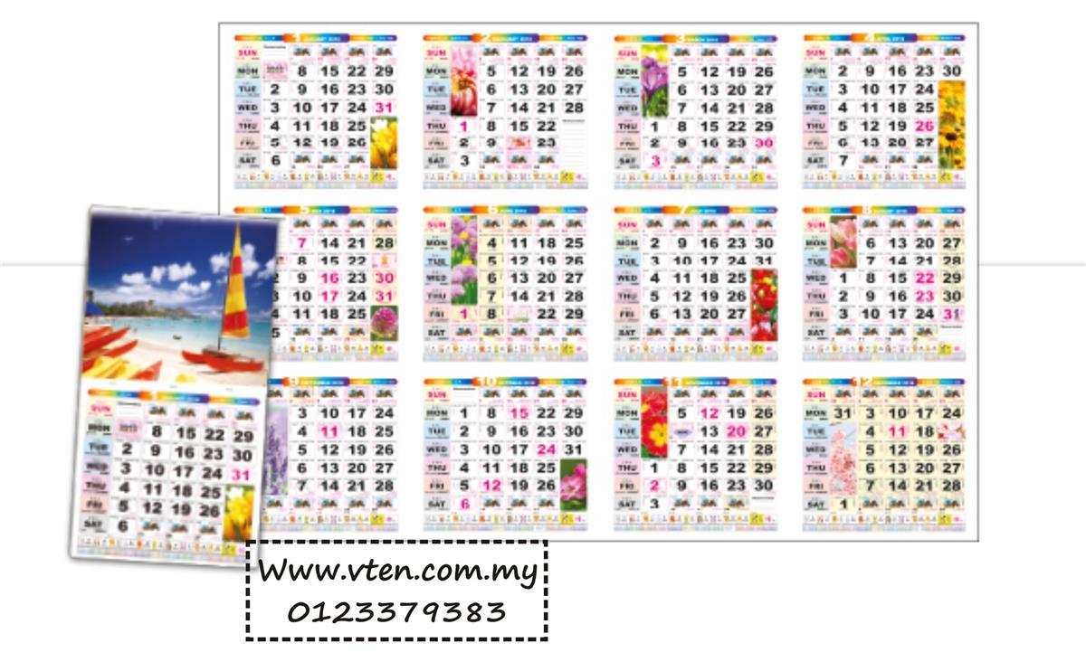 Custom Made Calendar Malaysia Desk Calendar Full Printing With Logo