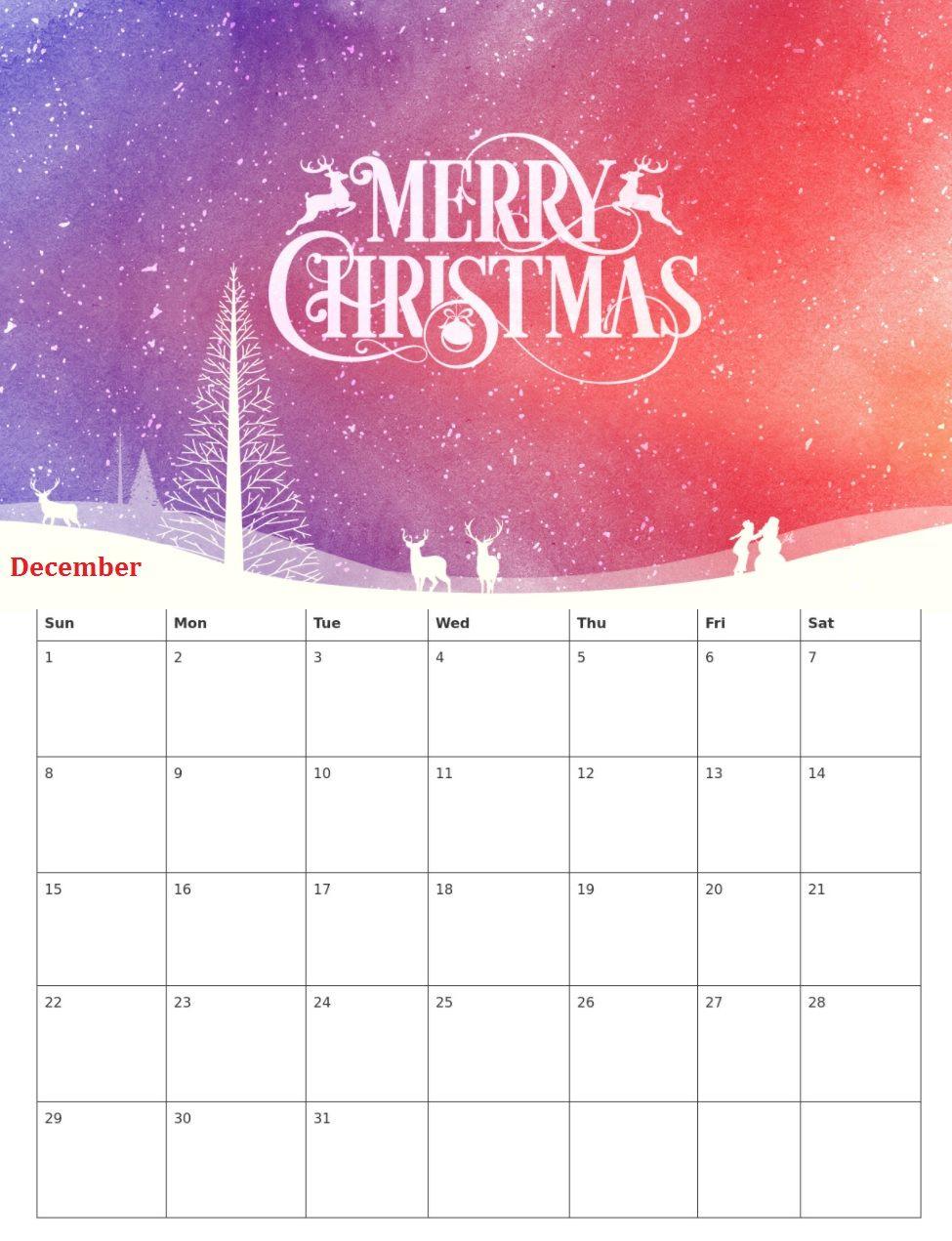 Cute December 2019 Christmas Calendar | Christmas Calendar