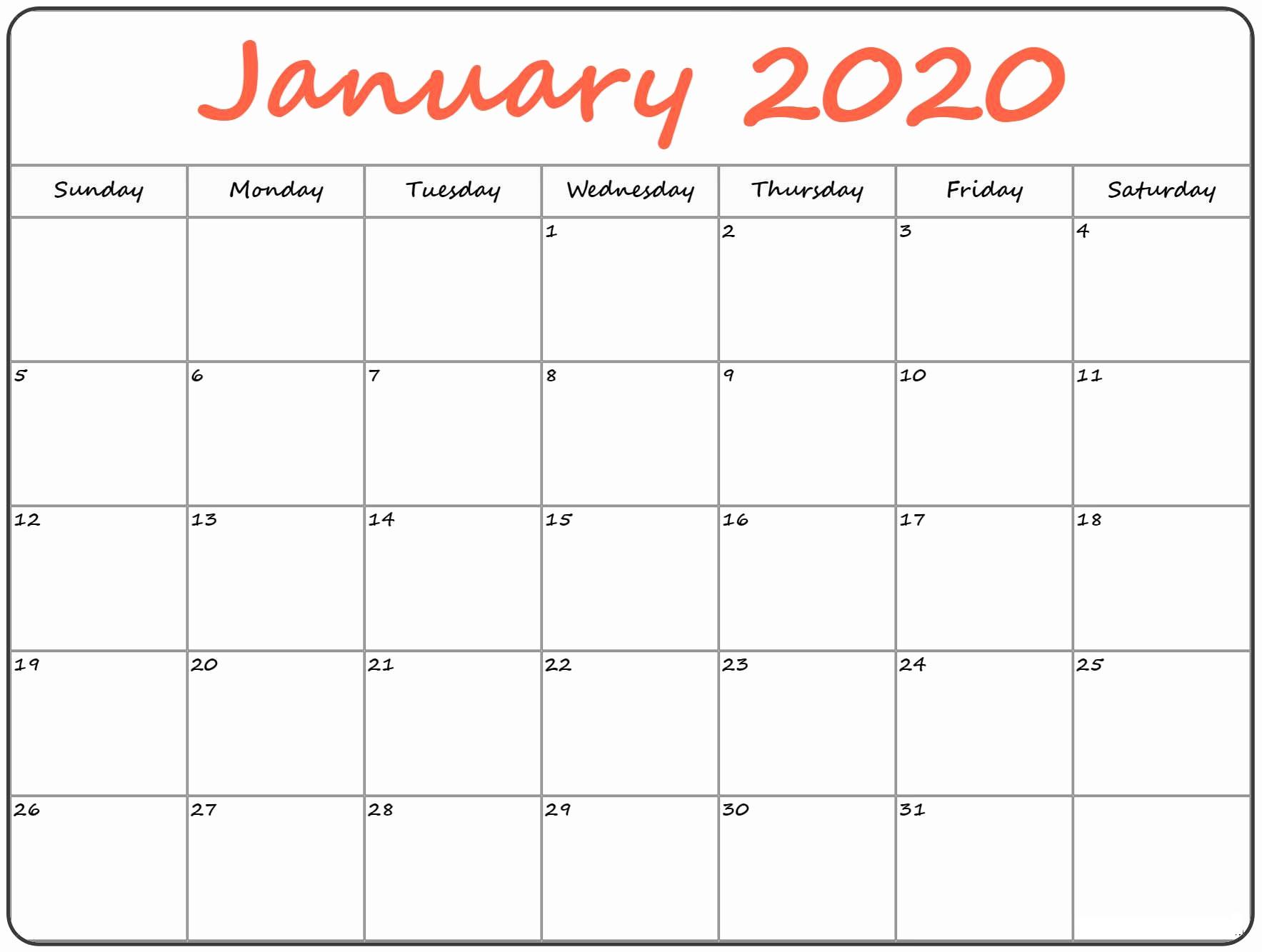 Cute January 2020 Calendar For Classroom Management | Free