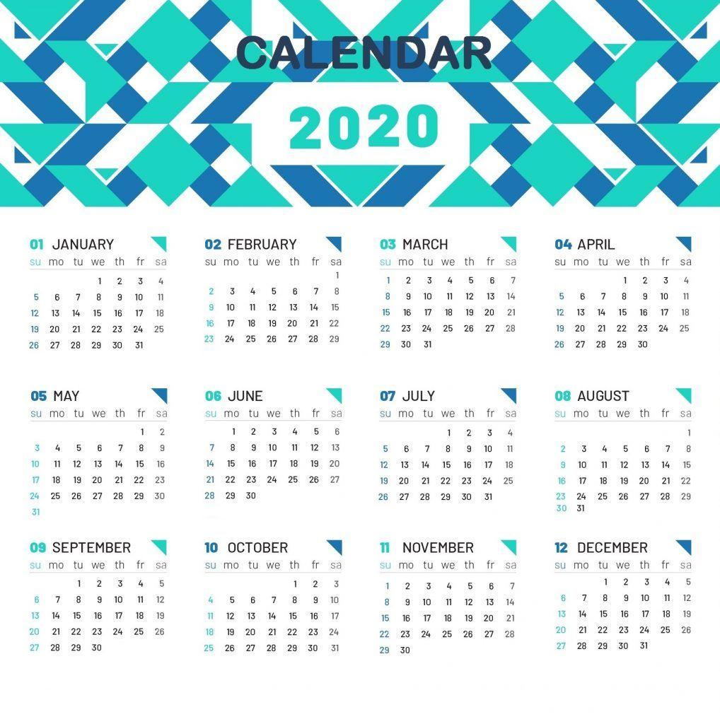 Cute Printable 2020 Calendar | Calendar 2019 Printable