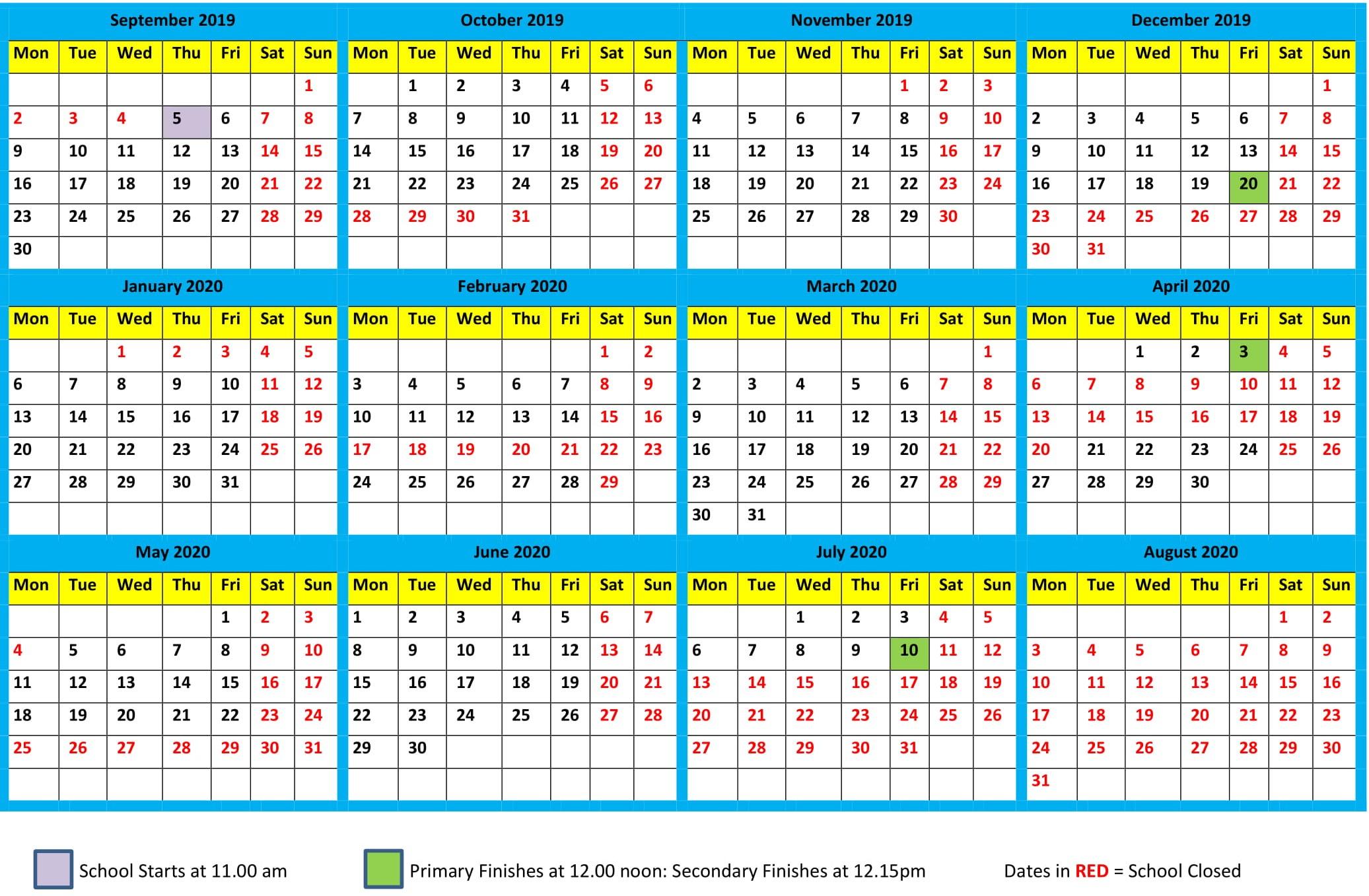 Календарь 2020 - Bagno.site