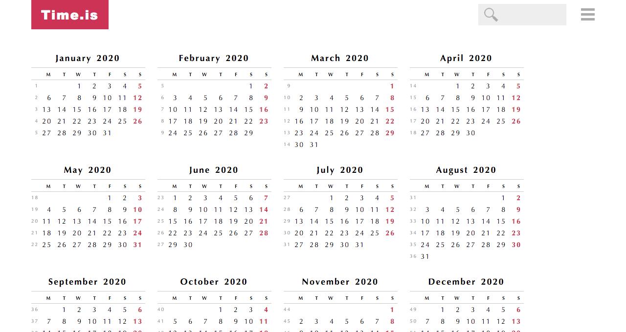 Календарь:rut Prediction 2020 Illinois – Calendar Template