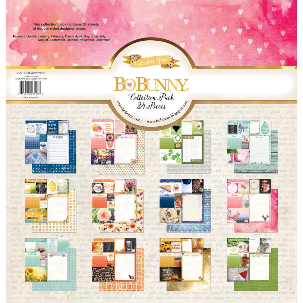 """Набор Бумаги """"calendar Girl - January Through December"""", 24"""
