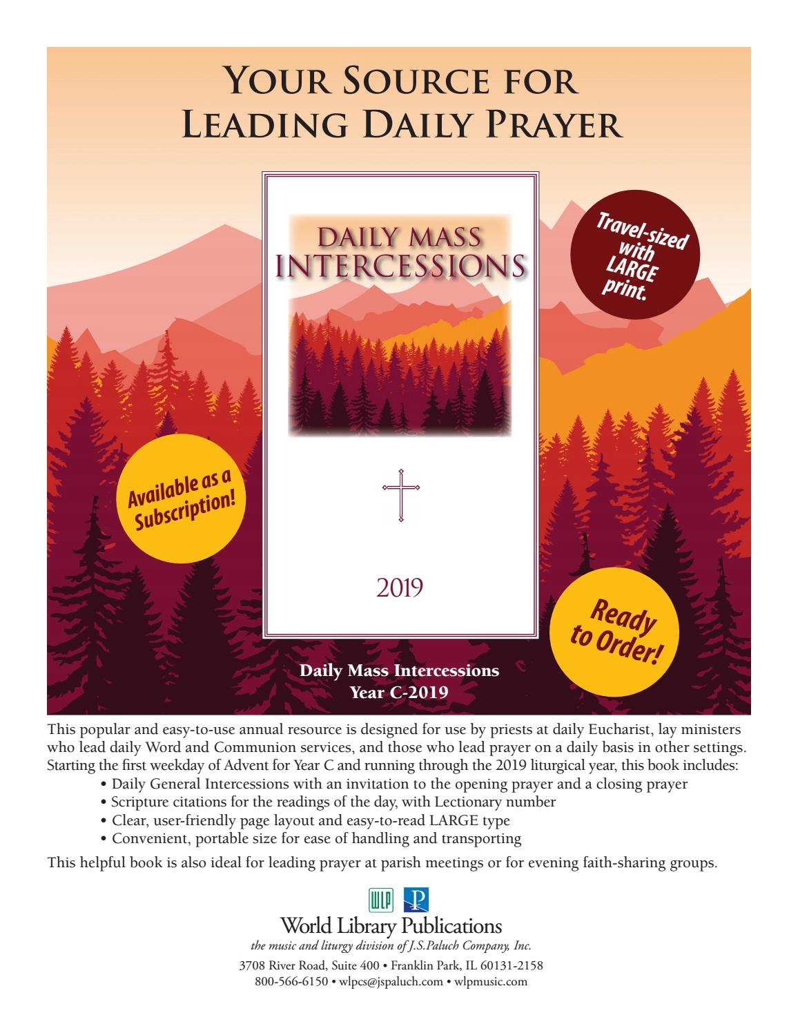 Daily Mass Intercessions 2019 By World Library Publications