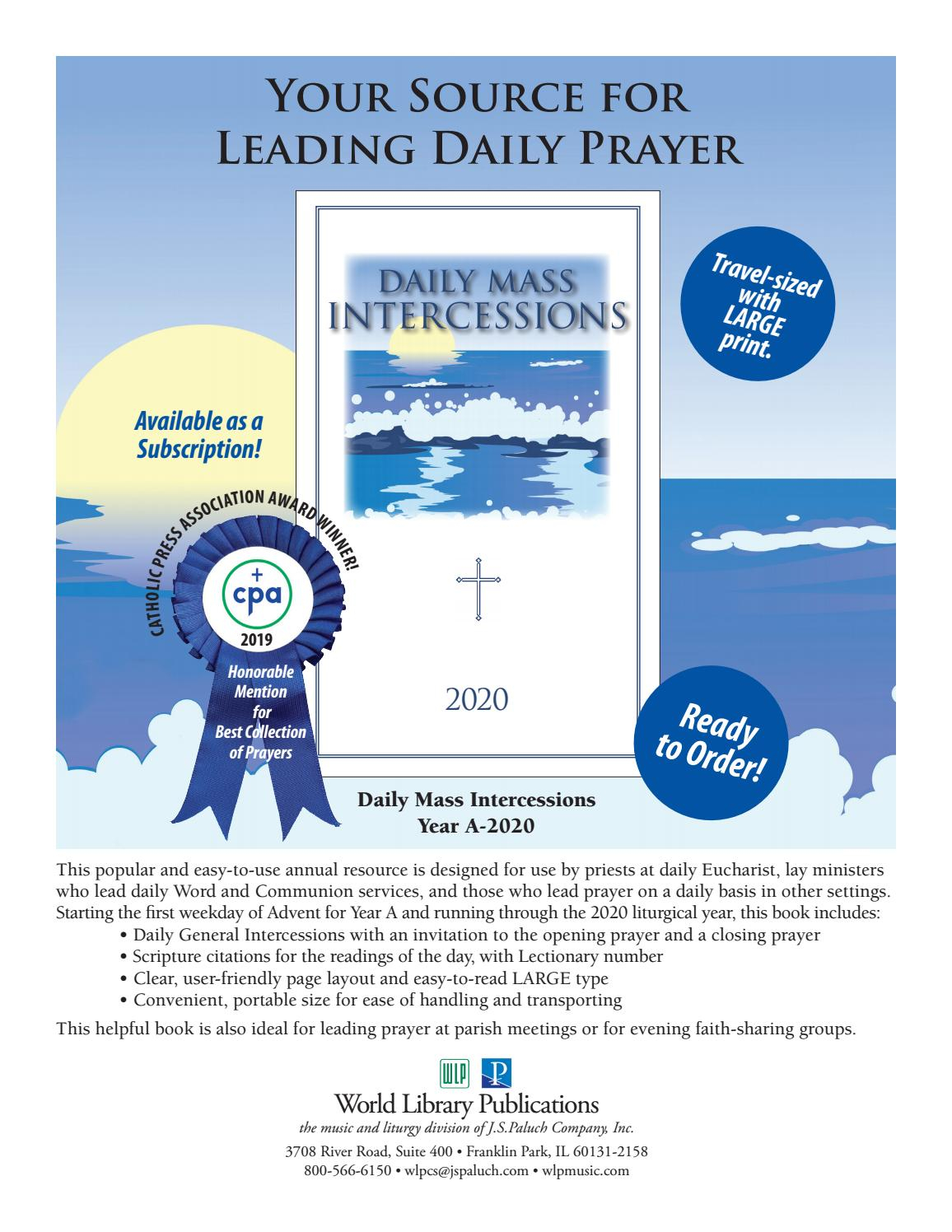 Daily Mass Intercessions 2020 By World Library Publications