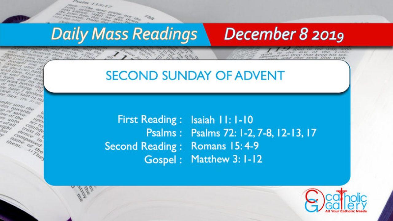 Daily Mass Readings - 8 December 2019 - Sunday - Catholic