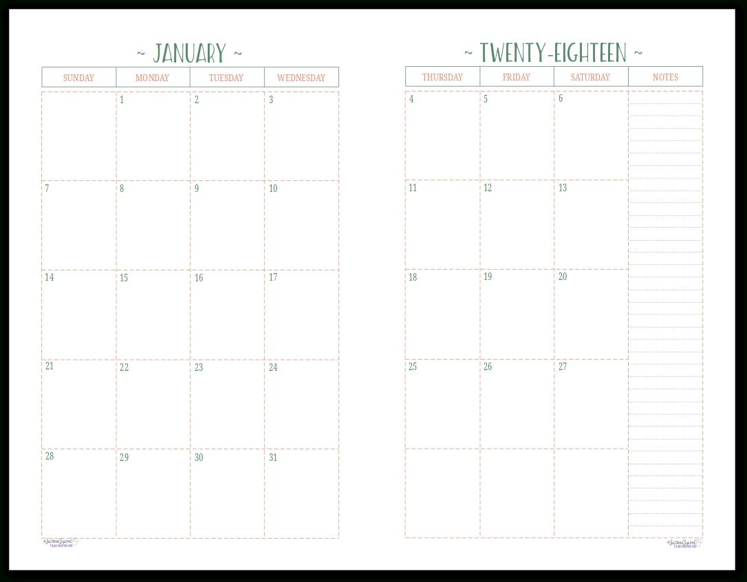 Dandy Printable Calendar Half Size : Mini Calendar Template