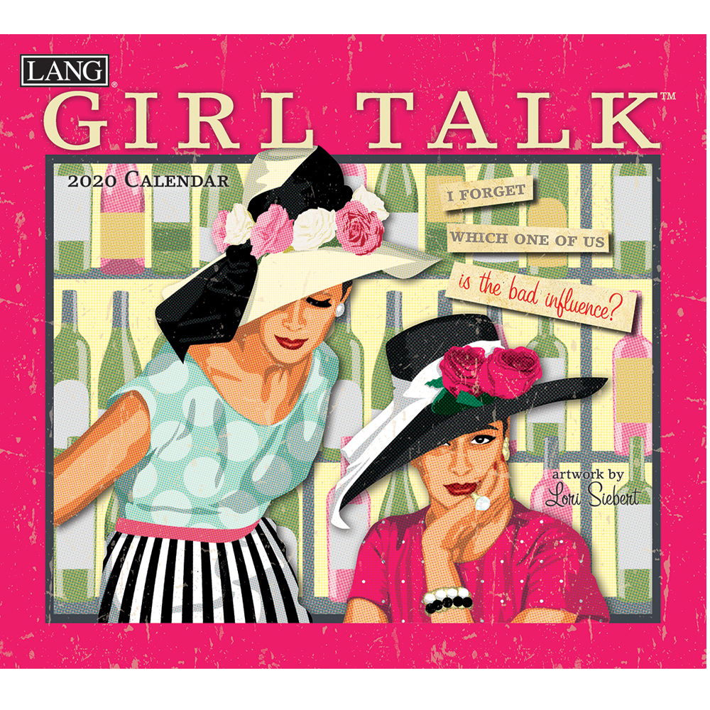 Details About 2020 Lang Calendar Girl Talk By Lori Siebert New Calender  Fits Wall Frame