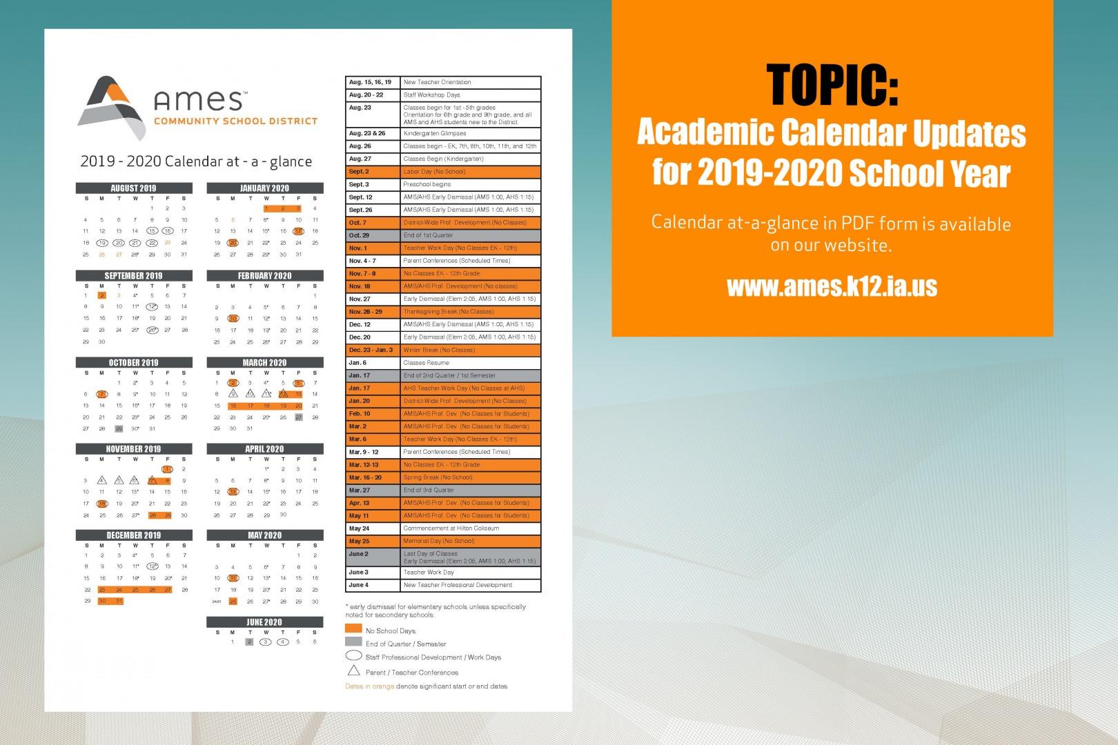 District Calendar - Ames Community School District
