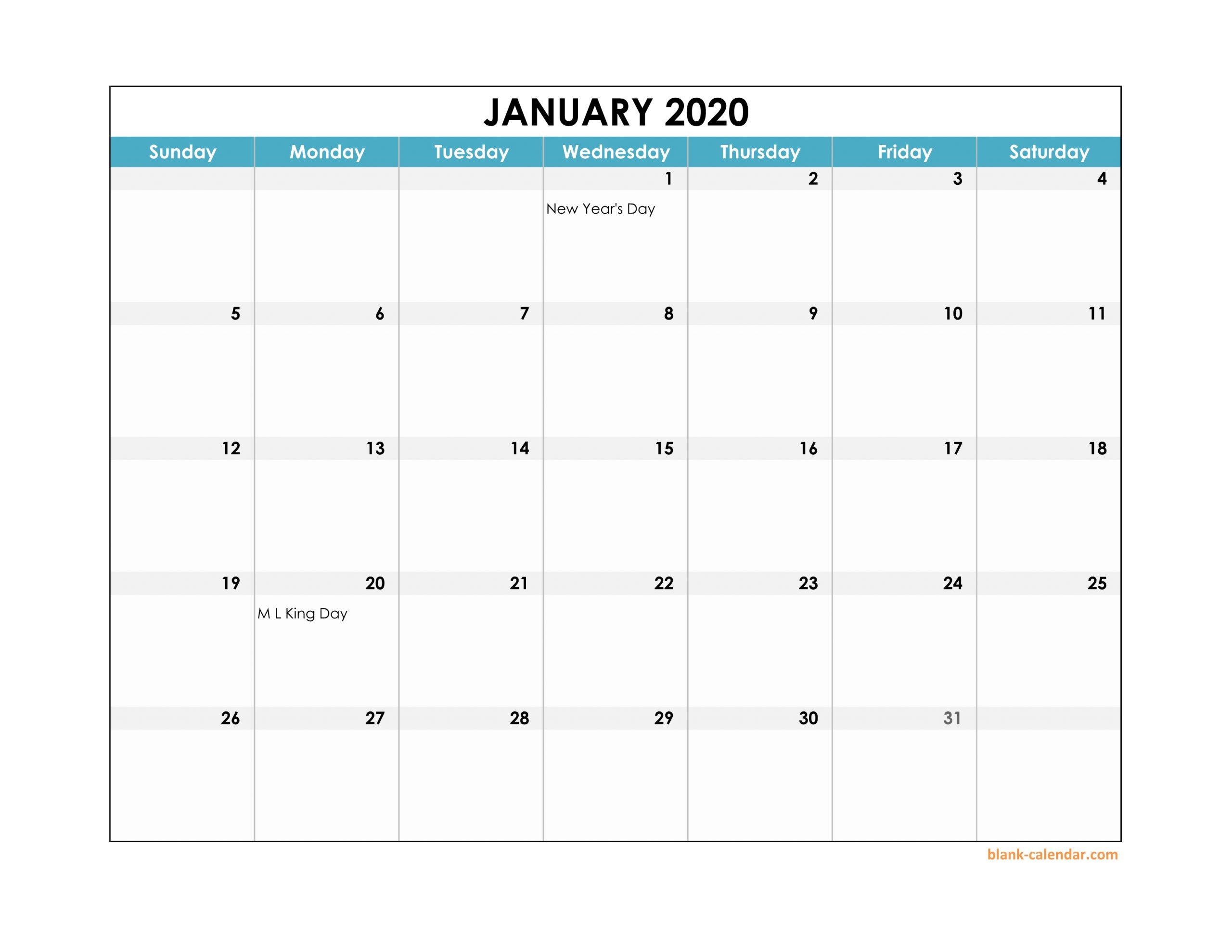 Download Excel Calendar 2020 - Togo.wpart.co