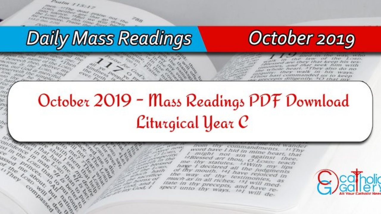 Download Mass Readings - October 2019 - Catholic Gallery