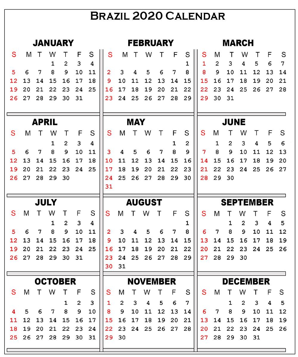 ❤️free Printable 2020 Public Holiday Calendar Template