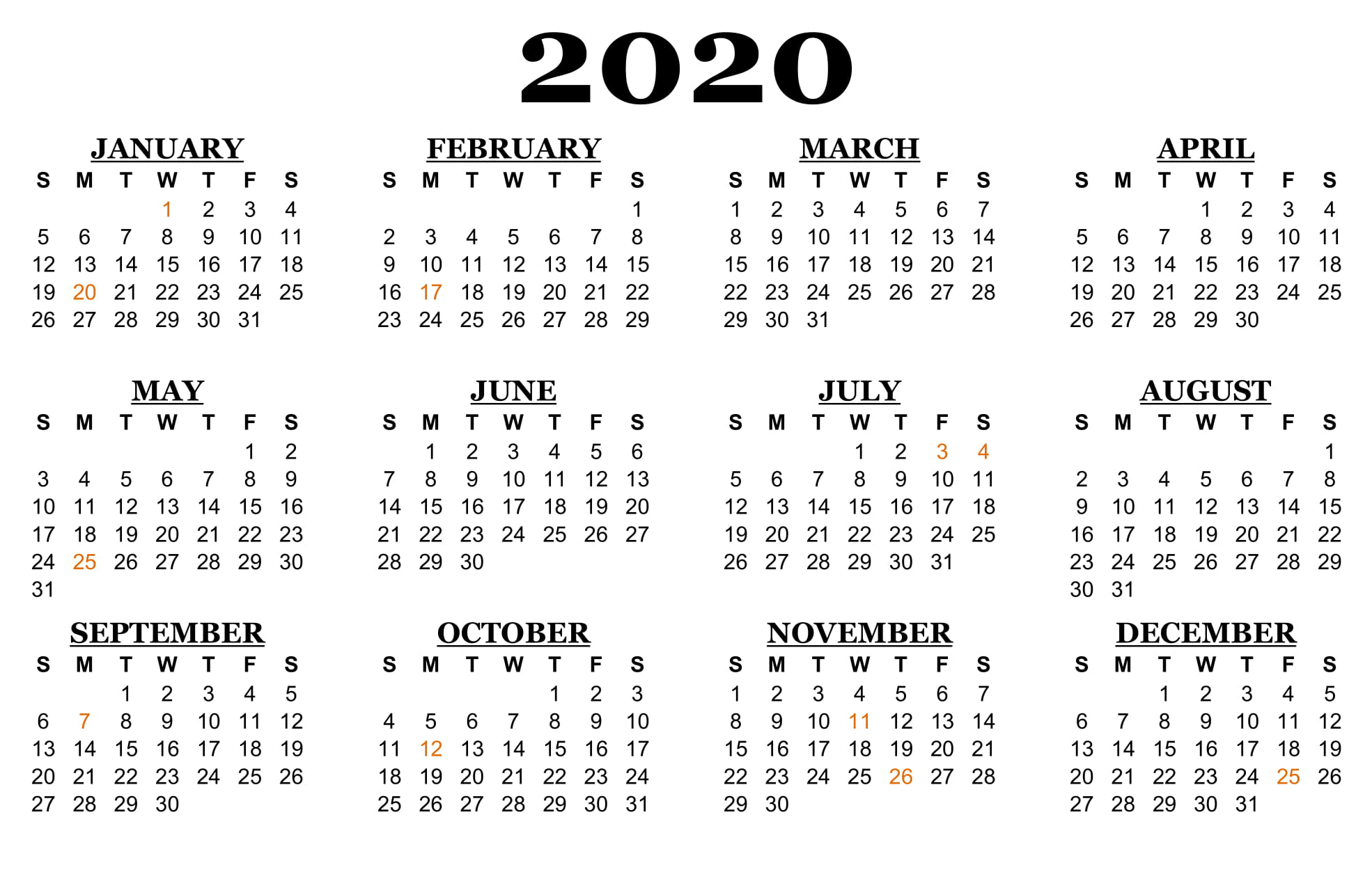 ❤️printable Calendar 2020 Templates With Nsw Public