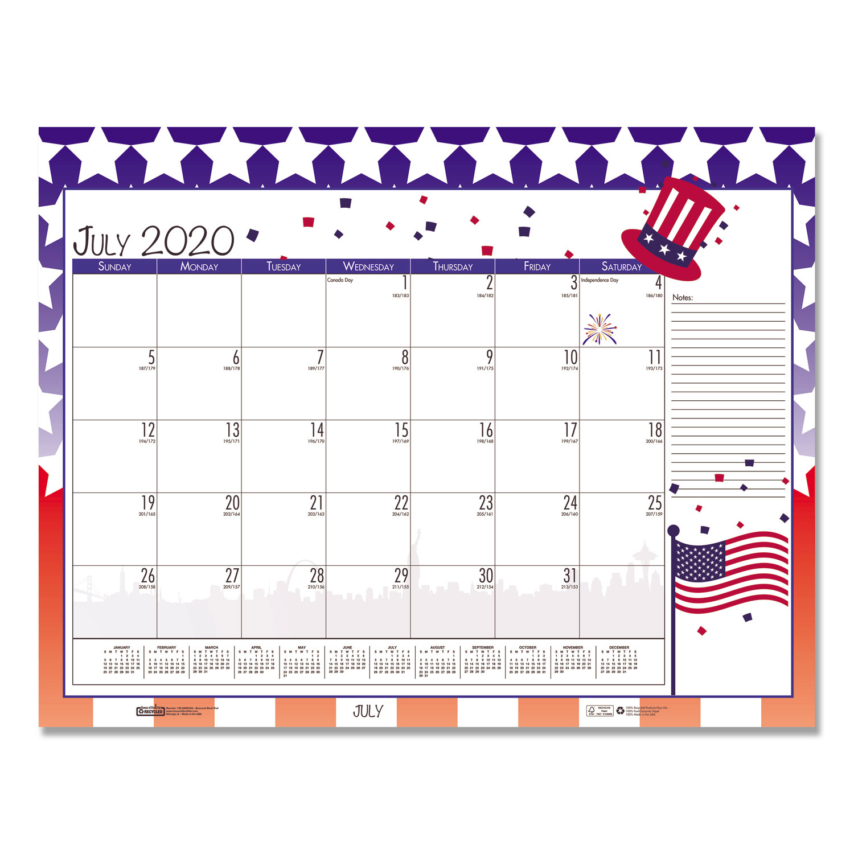 Earthscapes Seasonal Desk Pad Calendar, 22 X 17, Illustrated