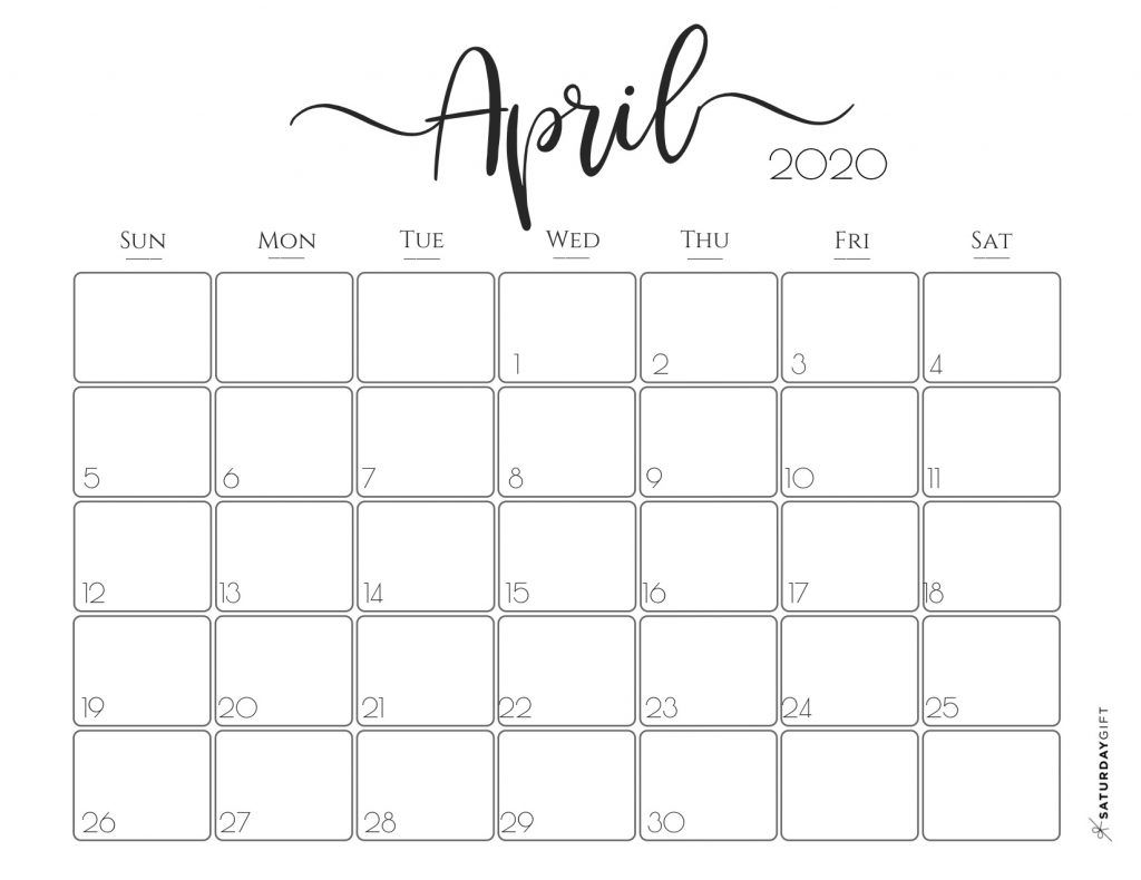 Elegant 2020 Calendar {Free Printables} | Планировщик Жизни