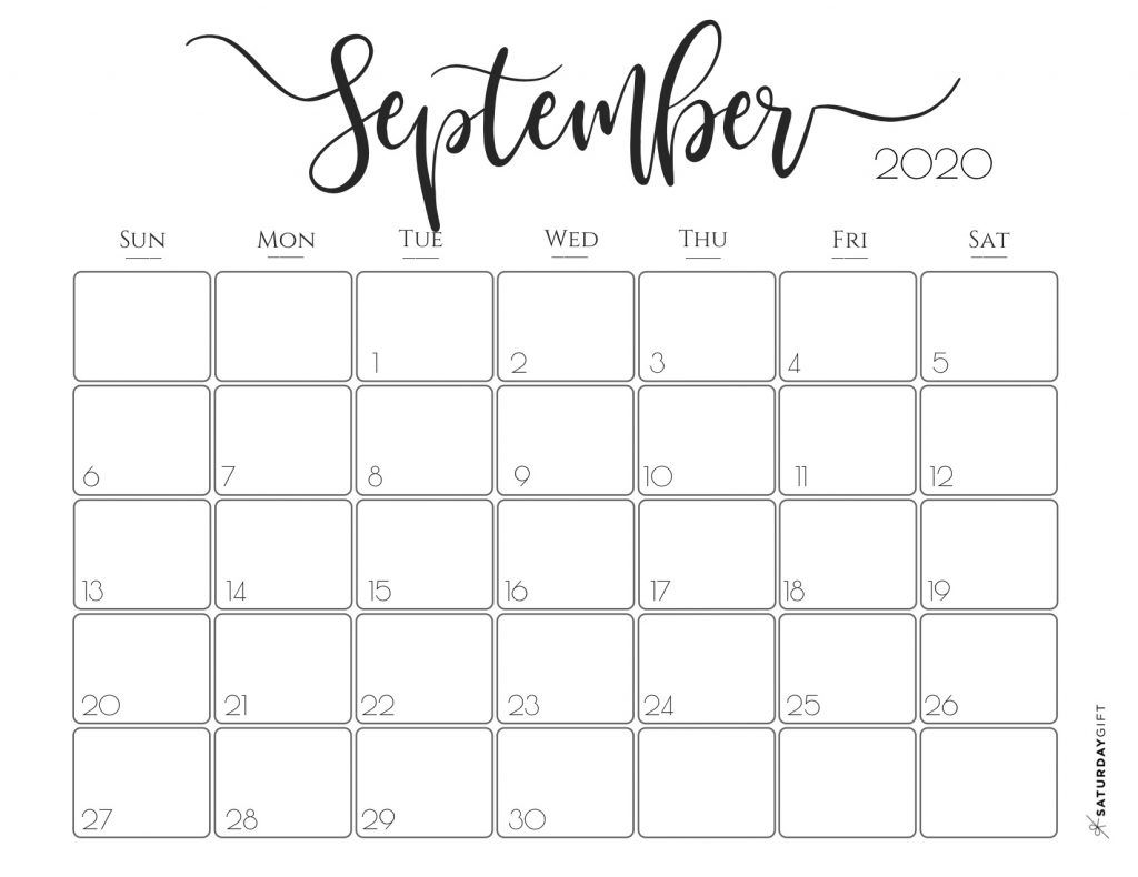 Elegant 2020 Calendar {Free Printables}   Printable Planner