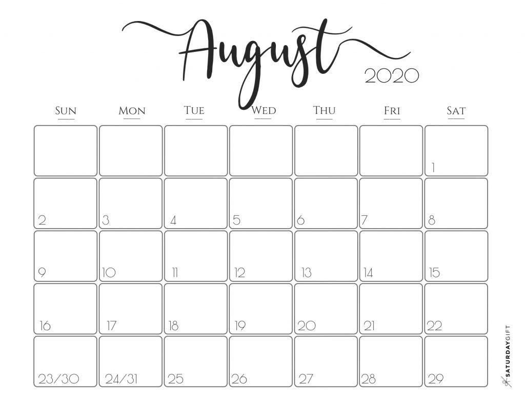 Elegant 2020 Calendar {Free Printables} | Printable Planner