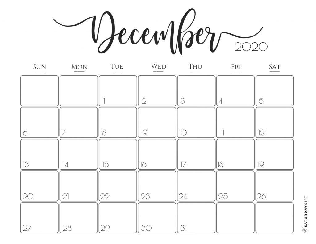 Elegant 2020 Calendar {Free Printables} | Saturdaygift