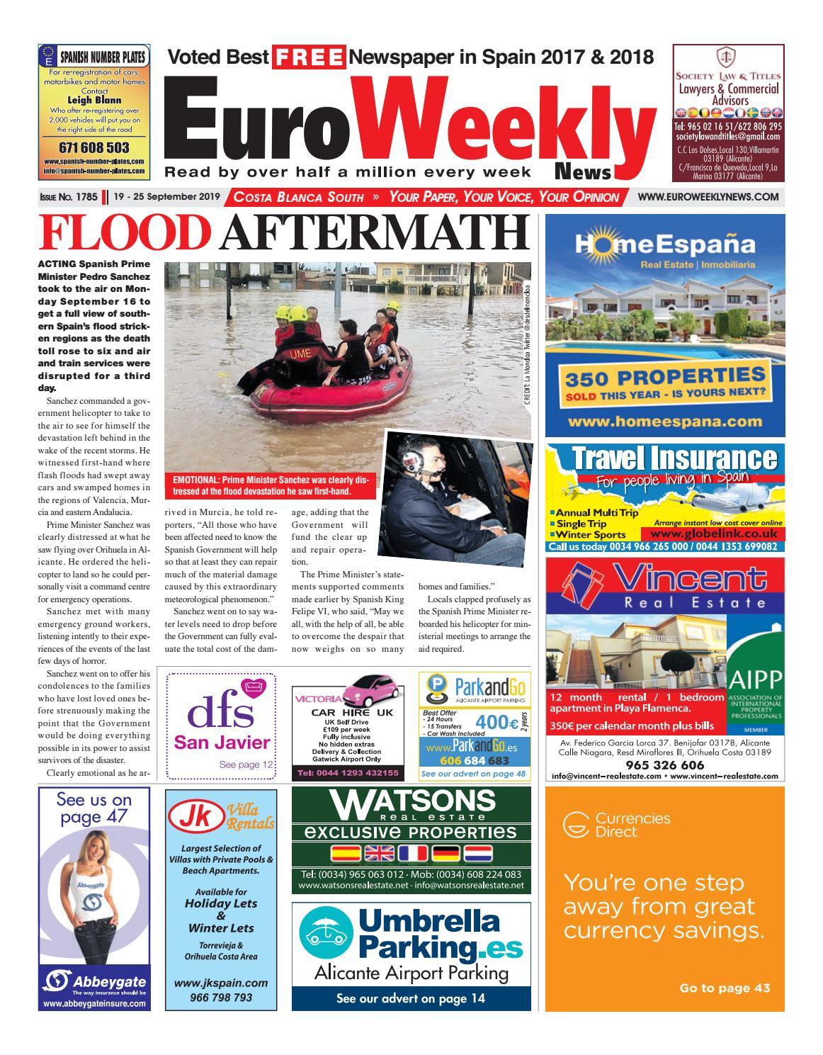 Euro Weekly News - Costa Blanca South 19 - 25 September 2019