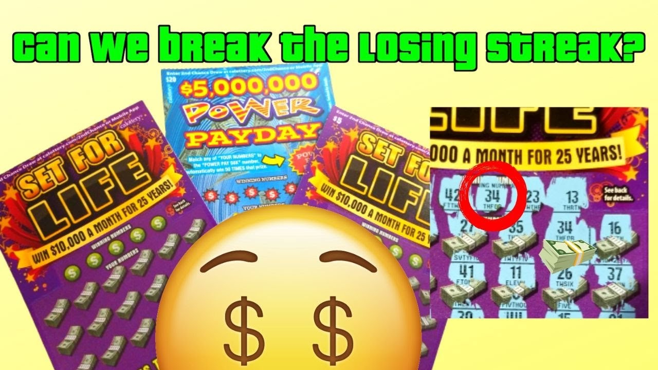💎set For Life And Power Payday California Lottery Scratcher! Let's Break  This Losing Streak!💎
