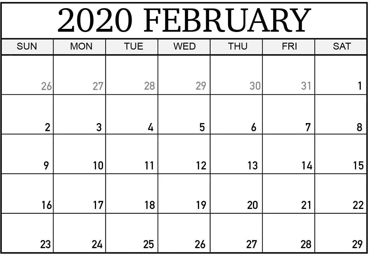 February 2020 Calendar Canada With Holidays Pdf - Set Your