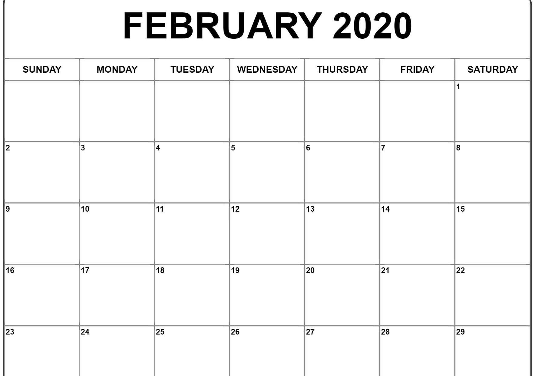 February 2020 Calendar Excel | February Calendar, Excel